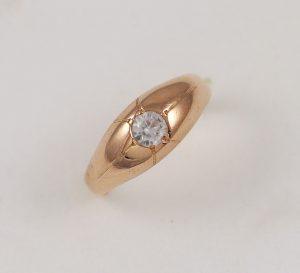 Prsten růžové zlato zirkon