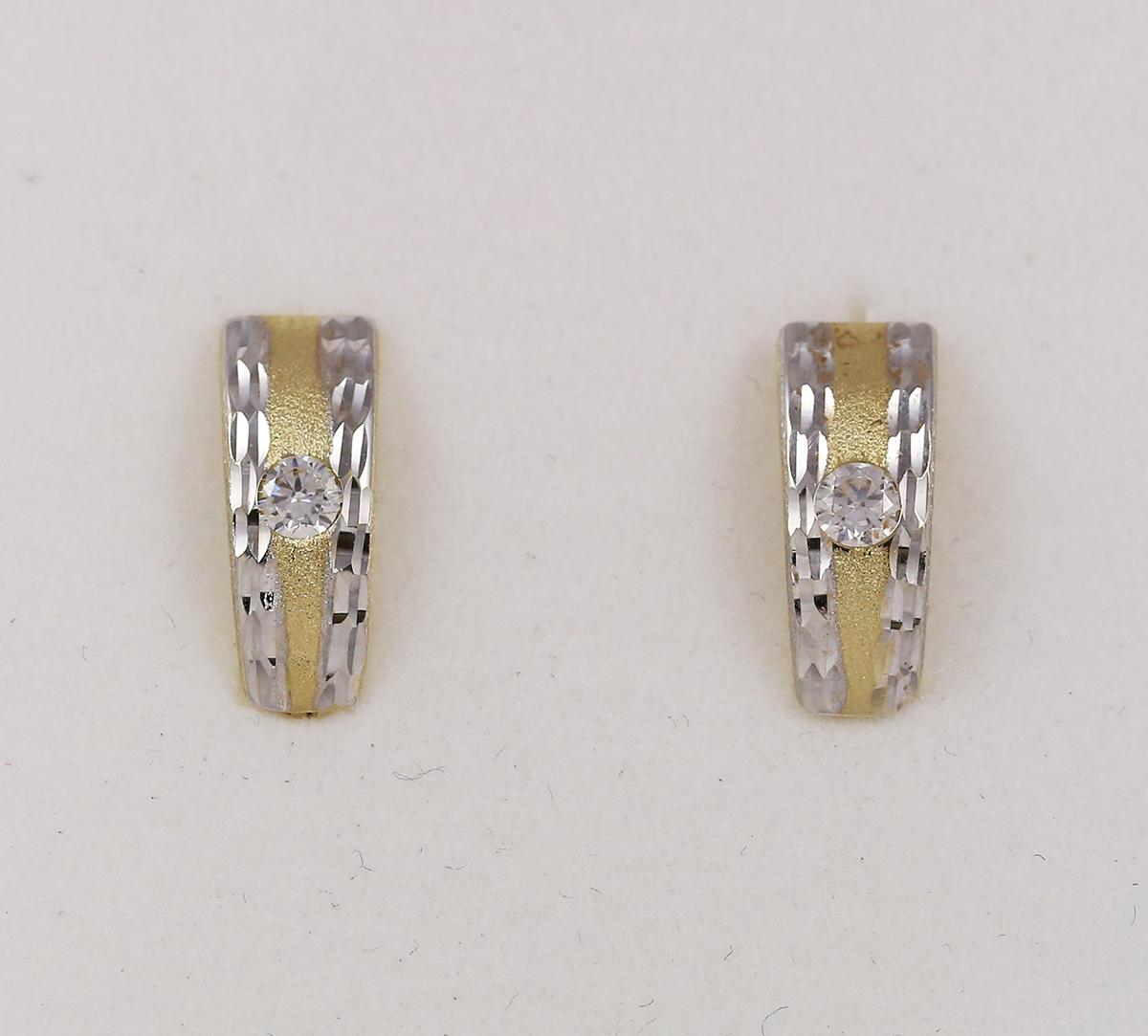 Ocelová náušnice na ušní boltec Materiál náušnice: chirurgické oceli 316LOP1005-CL.