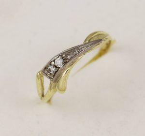 Prsten se zirkony dva