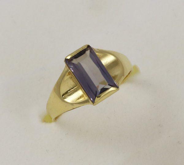 Prsten fialový kámen