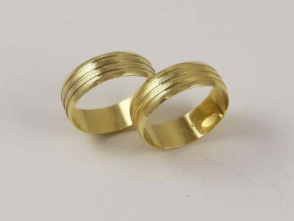 Snubní prsteny dva kusy
