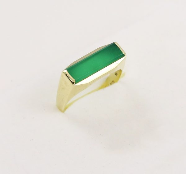 Pánský prsten zelený kámen