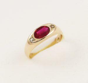 Prsten retro růžové zlato