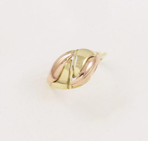 Prsten celozlatý dvou barev