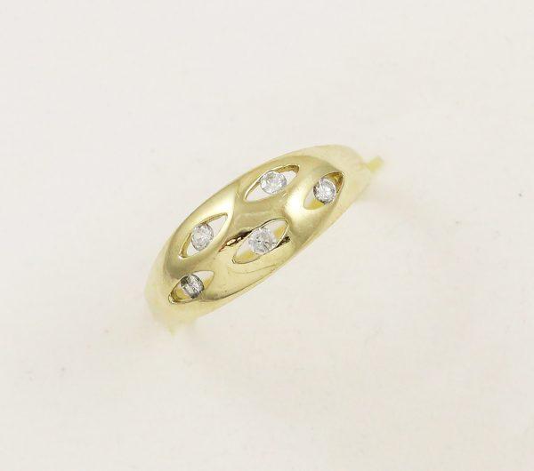 Prsten malé zirkony