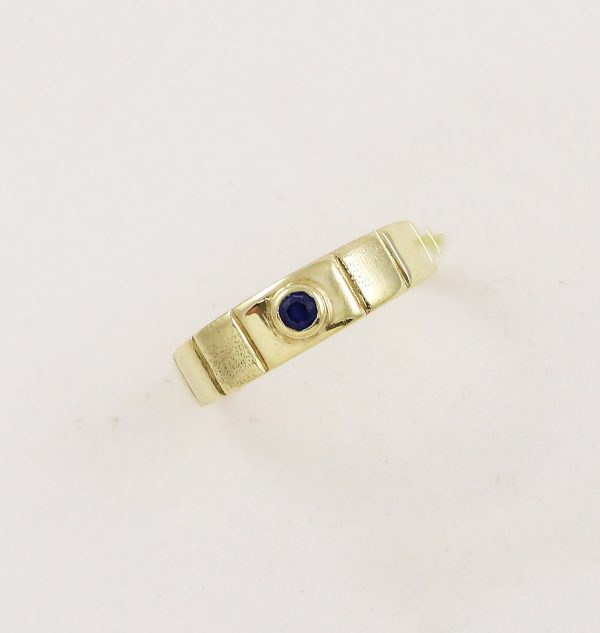Prsten modrý kámen
