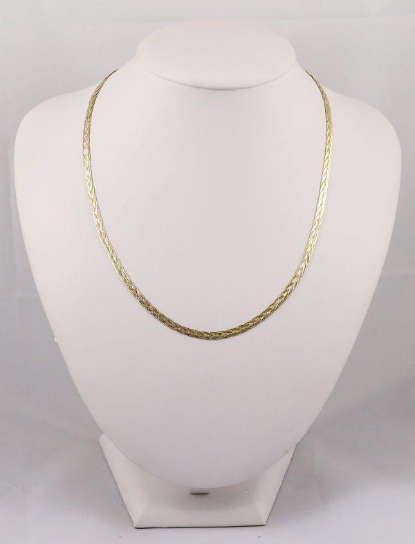 Zlatý náhrdelník propletený jednobarevný