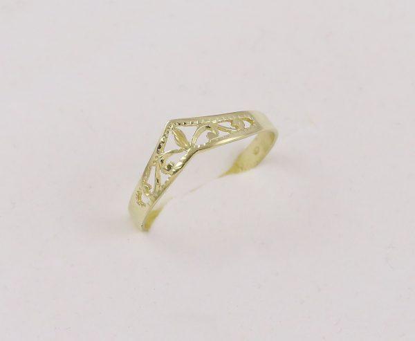 Prsten retro špička