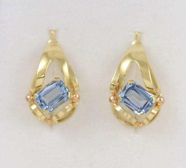 Náušnice modrý kámen styl