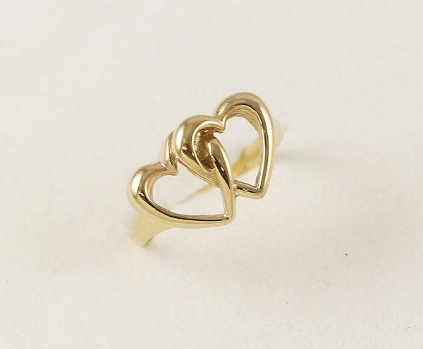Prsten dvě srdce