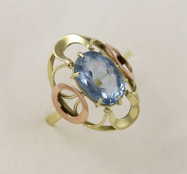 Prsten kombinace s kamenem