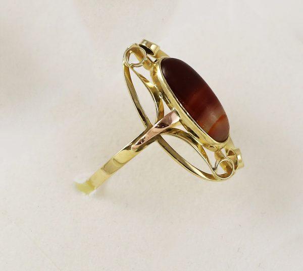 Prsten barevný kámen