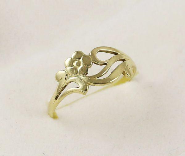 Prsten růže celo-zlatý