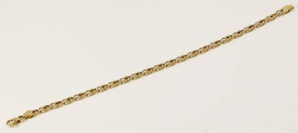 Zlatý náramek dutý