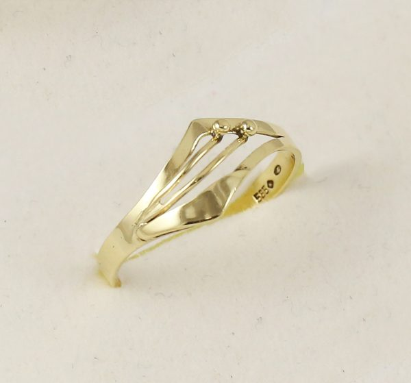 Prsten celo-zlatý kuličky