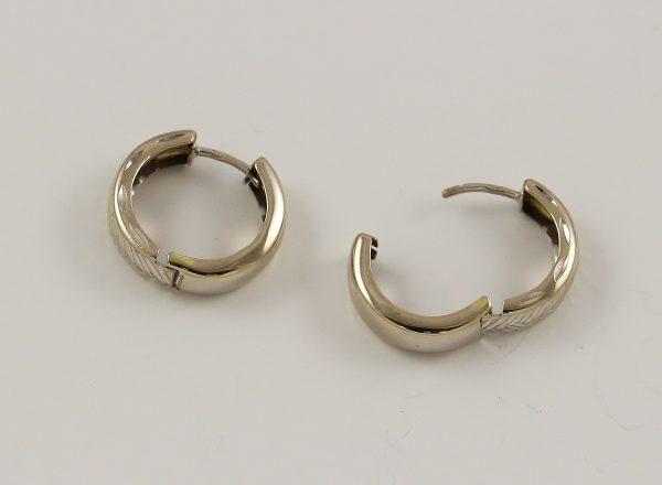 Náušnice kruhy v bílém zlatě