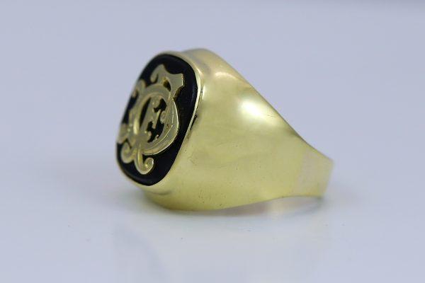 Pánský prsten s monogramem
