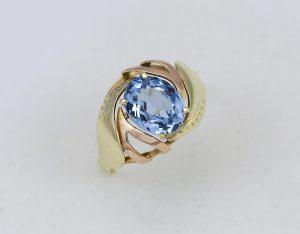 Prsten modrá kámen