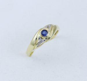 Prsten modrý kamínek