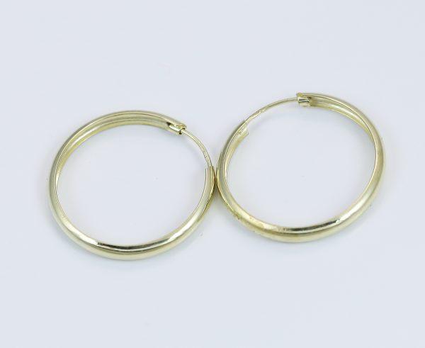 Zlaté náušnice odlehčené kruhy