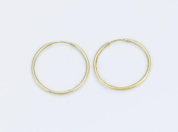 Zlaté náušnice jednoduché kroužky
