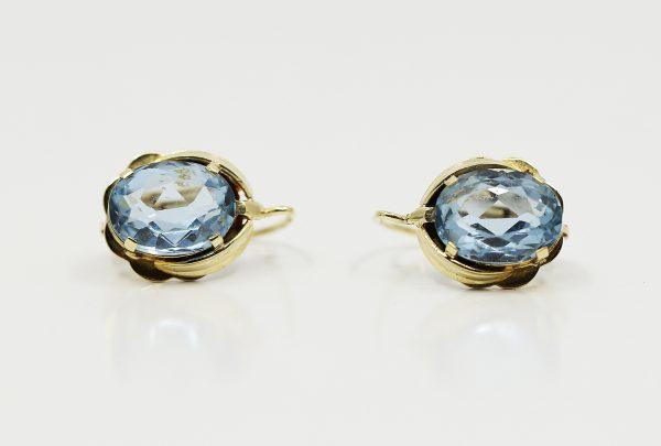 Náušnice modrý kámen