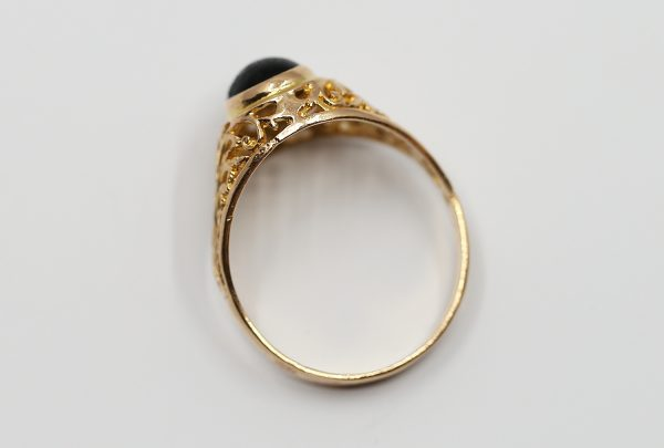 Prsten exotika černý kámen