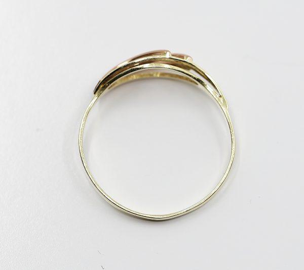 Zlatý prsten s červenými paprsky