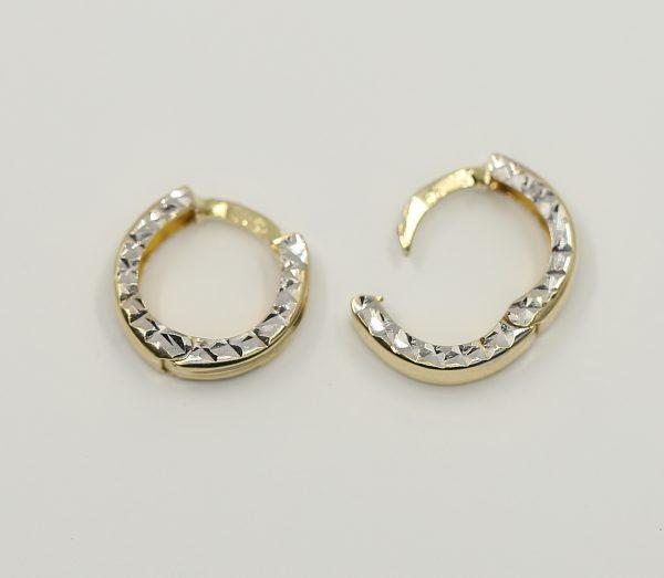 Kruhové zlaté náušnice