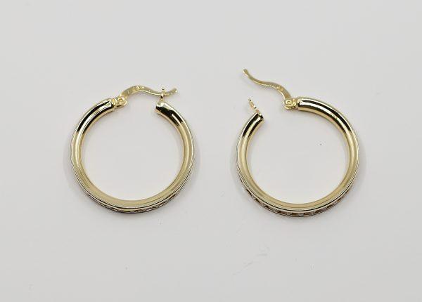 Zlaté kruhové náušnice s kamínky