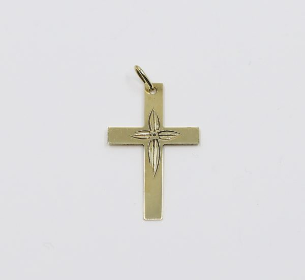 Zlatý přívěsek kříže